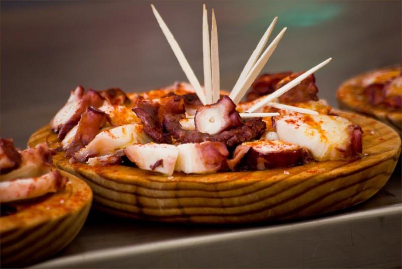 Pulpo a la gallega 章鱼,比不上小海鲜。